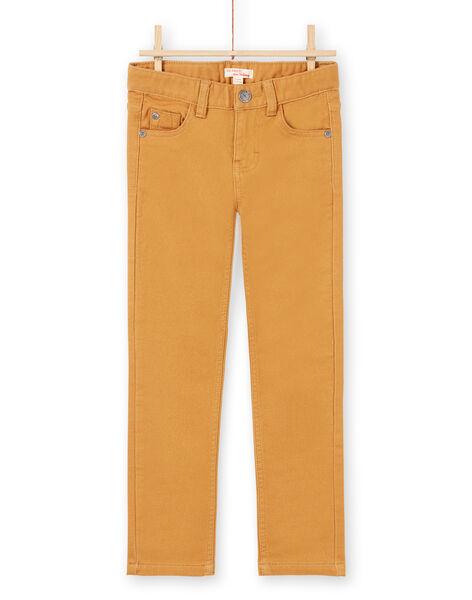 Boy's plain yellow jeans MOJOPAKNI4 / 21W90222PANI814