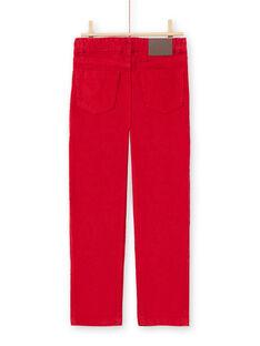 Red PANTS MOJOPAVEL3 / 21W90212PANF508