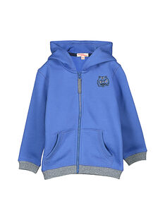 Boys' zipped hoodie FOJOJOH4 / 19S902Y4D33C212