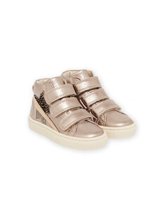 Child girl golden high top sneakers MABASGOLD / 21XK3557D3F954