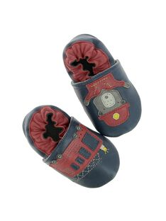 Baby boys' leather slippers DNGPOMPIER / 18WK47W1D3S070