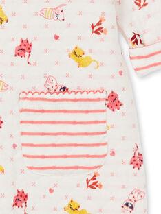 Girl's quilted cat print sleep suit LEFIGRENAU / 21SH1313GRE001