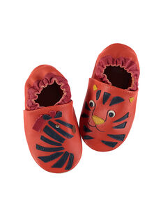 Baby boys? leather slippers. FNGZEBR / 19SK3838D3S400