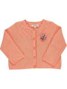 Baby girls' cardigan CIBUCAR1 / 18SG09K1CAR401