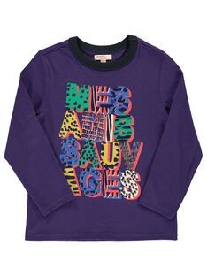 Boys' long-sleeved T-shirt DOVIOTEE4 / 18W902H4TMLH701