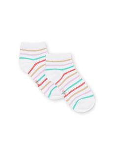 Multicolored striped socks child girl LYAVISOCK / 21SI01U1SOQ000