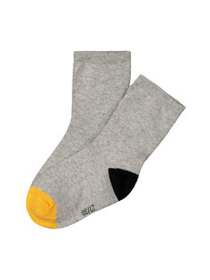 Boys' three colour socks FYOJOCHO1B / 19SI0232SOQJ908
