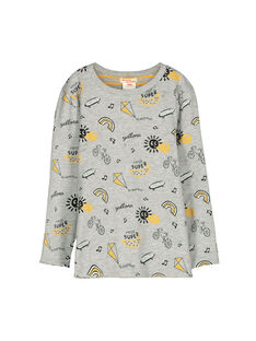 Boys' long-sleeved reversible T-shirt FOLITEE1 / 19S90221TMLJ908