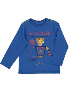Boys' fancy long-sleeved T-shirt DOBLETEE1 / 18W90291TMLC209