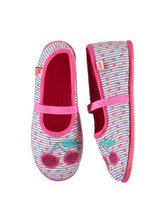 Girls' ballet pump slippers FFBALCER / 19SK3531D07030