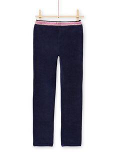 Girl's night blue milano pants MAJOMIL2 / 21W90118PANC205