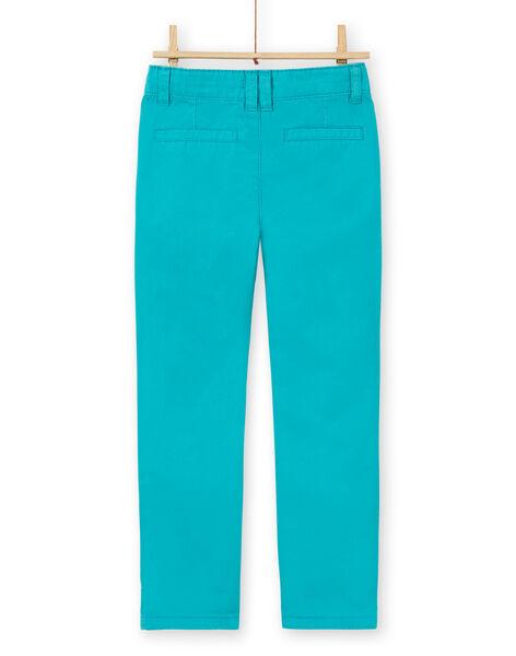 Blue cotton pants boy boy LOJOPACHI3 / 21S90236PANC215
