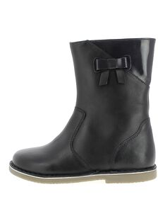 Girls' leather boots DFBOTTEJU / 18WK35T4D10070