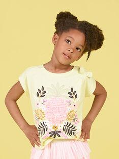 Yellow and pink T-shirt LAJAUTI2 / 21S901O2TMC116