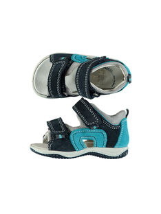 Baby boys' smart leather sandals. FBGSANDMA / 19SK38K4D0E070