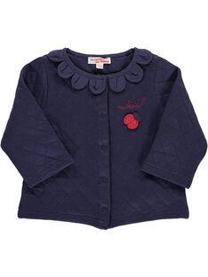 Baby girls' fleece cardigan CIDECAR1 / 18SG09F1CAR705