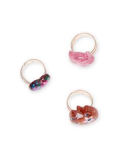 Girl's 3 assorted glitter rings MYAJORING1 / 21WI01S2BAG953