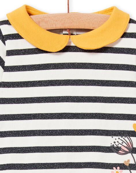 Baby girl dress with Lurex® stripes LIPOEROB3 / 21SG09Y1ROBJ916