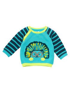 Turquoise Sweat Shirt JUCLOSWE / 20SG1011SWE202