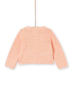 Pink knitted baby girl vest LINAUCAR2 / 21SG09L1CAR318