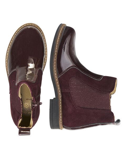 Burgundy Boots GFBOOTPRU / 19WK35ICD0D719