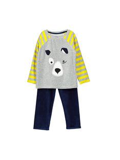 Boys' velour pyjamas FEGOPYJDOG / 19SH1242PYJJ908