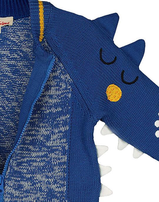 Baby boys' fancy twisted cardigan GUBLEGIL / 19WG1091GIL702