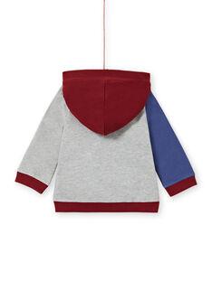 Baby boy's three-colored hoodie with dinosaur print MUPAGIL / 21WG10H1GIL943