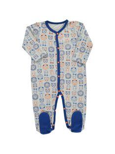 Baby boys' cotton sleepsuit CEGUGREAOP / 18SH1444GRE099
