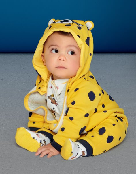 Surpyjama girl's fleece fleece fleece with leopard pattern LEFUCOMLEO / 21SH1411SPY106