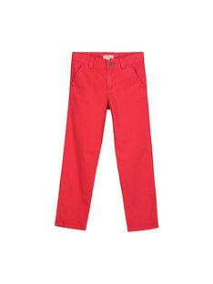 Boys' chino trousers FOJOCHINO4 / 19S90234D2BF505
