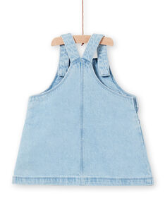 Girl's baby jeans overalls dress LICANROB1 / 21SG09M1ROBP272