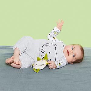 Babys Trousseau Placket Button Detail Romper with Hat